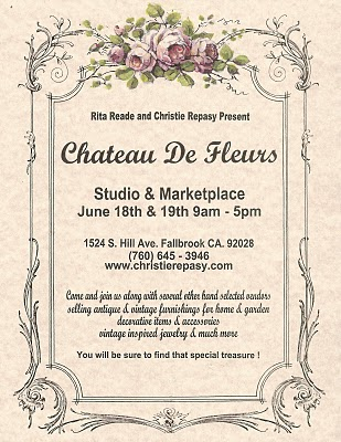 Chateau de fleurs june post card