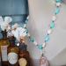 Soldered Coral Bottles & Religous Mary Beaded Necklace