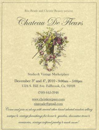Chateau de Fleurs December Postcard