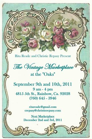 The Vintage Marketplace-September Postcard 2011