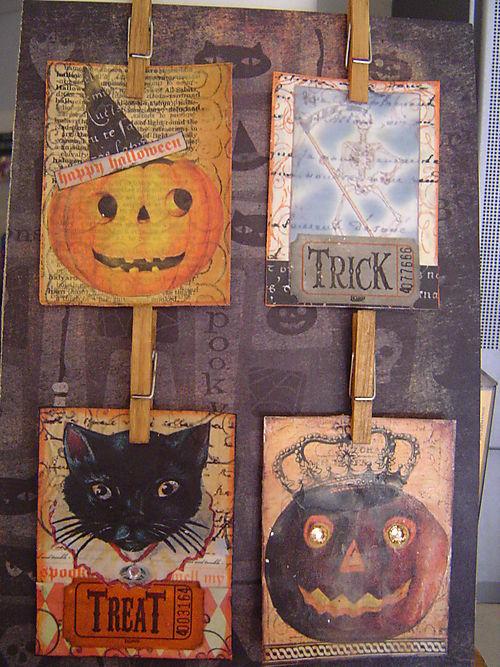 Halloween Beeswax ATC's  Stampworks