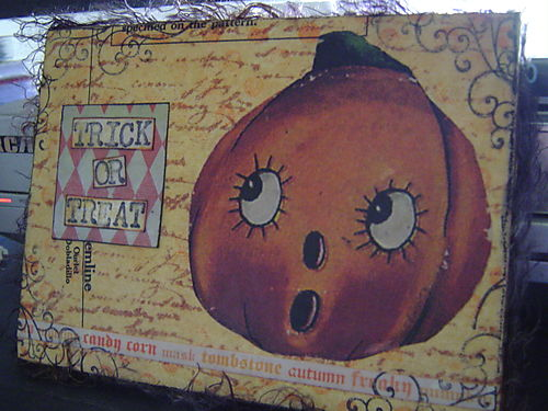 Beeswax Halloween canvas  Joann's