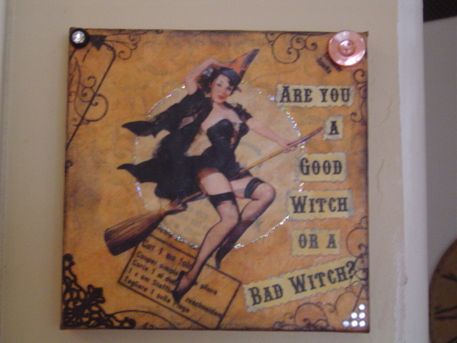 Halloween Beeswax Canvas Collage Class