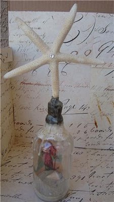 Mermaid of the Sea Soldered Beeswax Bottle