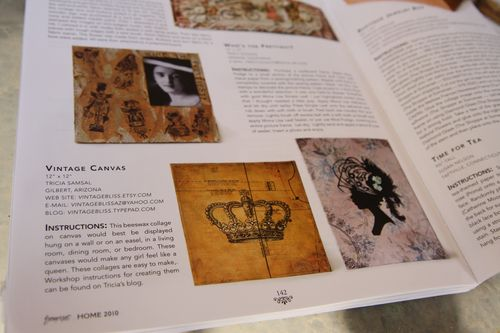 Beeswax and Collage canvases featured